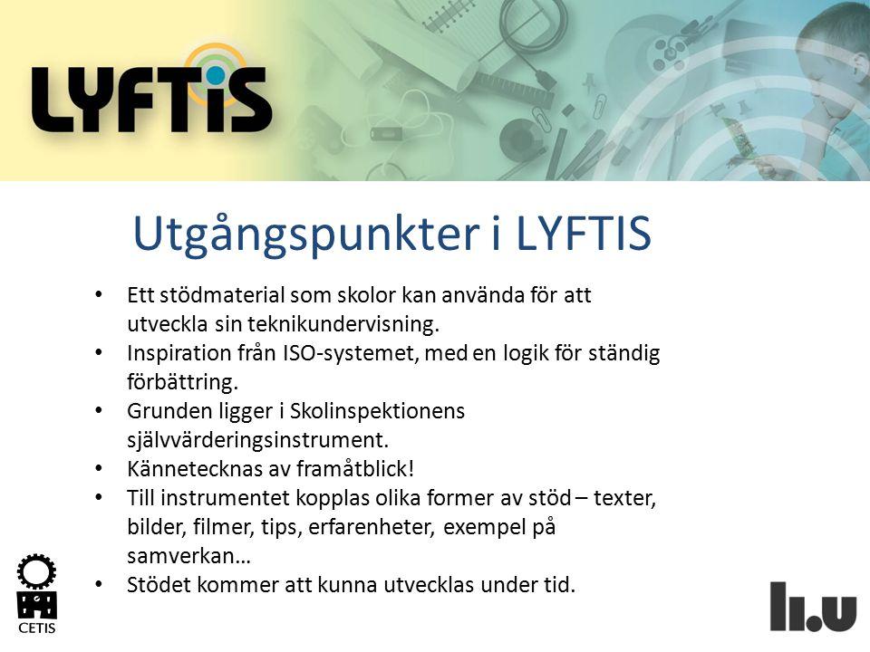 Utgångspunkter i LYFTIS