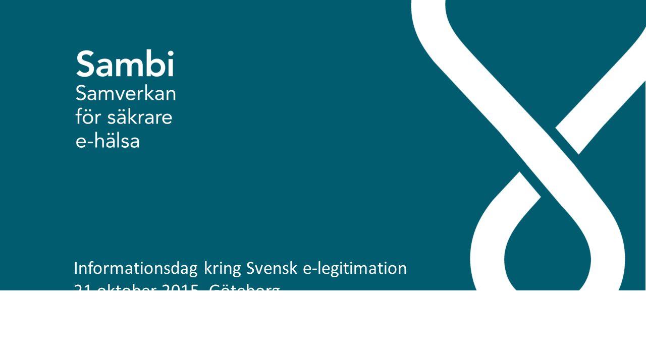 Informationsdag kring Svensk e-legitimation