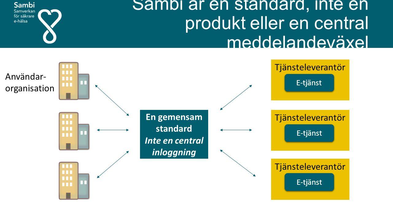Sambi är en standard, inte en produkt eller en central meddelandeväxel