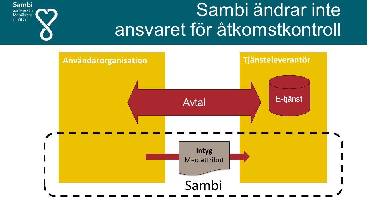 Sambi ändrar inte ansvaret för åtkomstkontroll