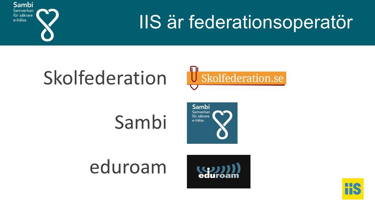 IIS är federationsoperatör