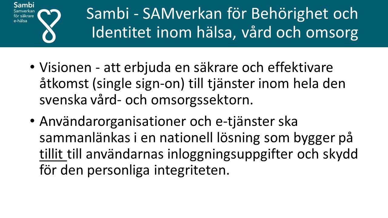 Sambi - SAMverkan för Behörighet och Identitet inom hälsa, vård och omsorg
