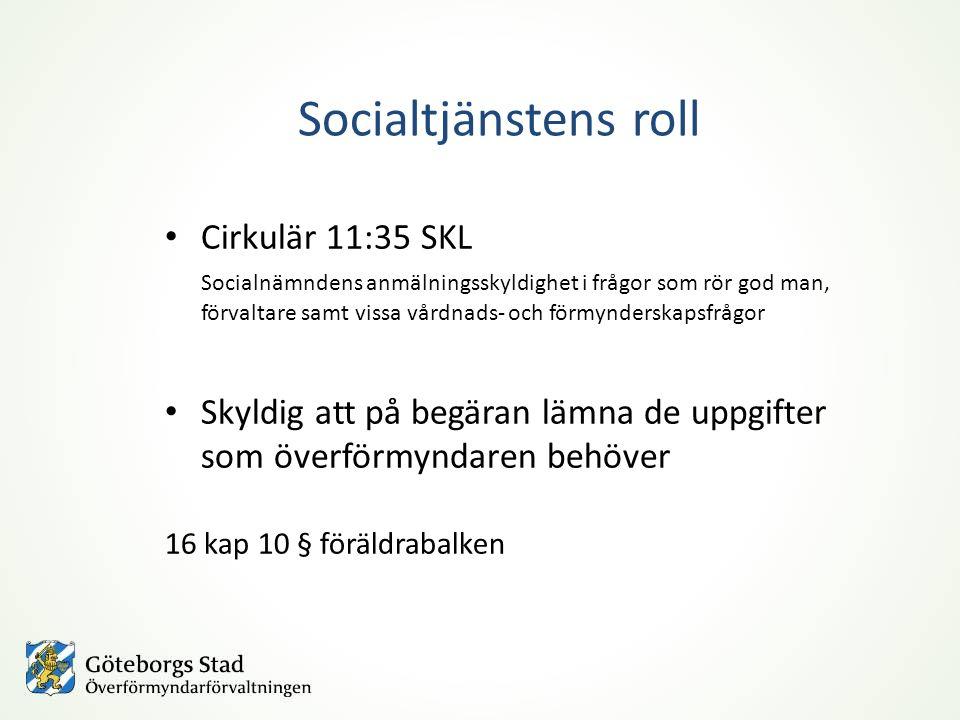 Socialtjänstens roll Cirkulär 11:35 SKL