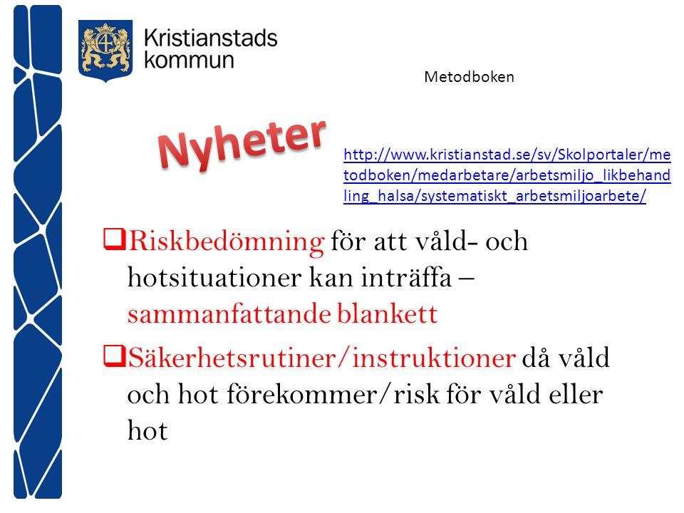 Metodboken Nyheter.