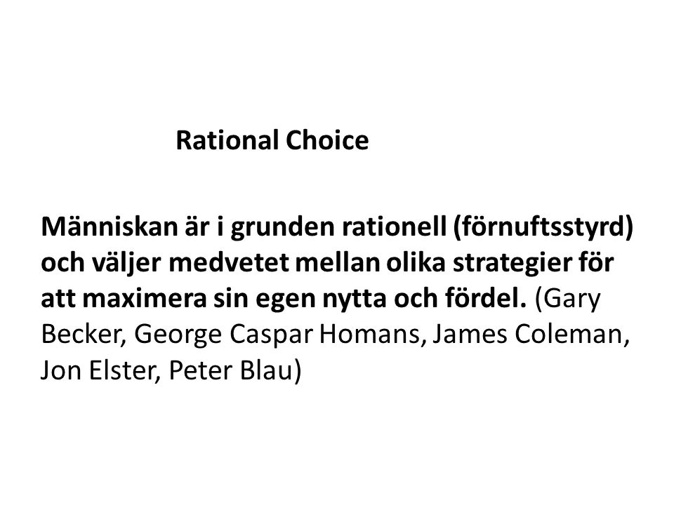 Rational Choice
