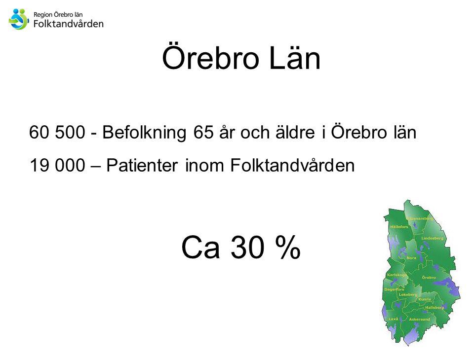 Örebro Län Ca 30 % 60 500 - Befolkning 65 år och äldre i Örebro län