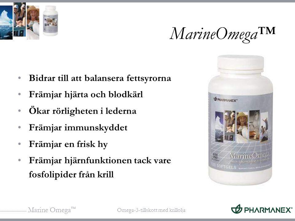 MarineOmega™ Bidrar till att balansera fettsyrorna