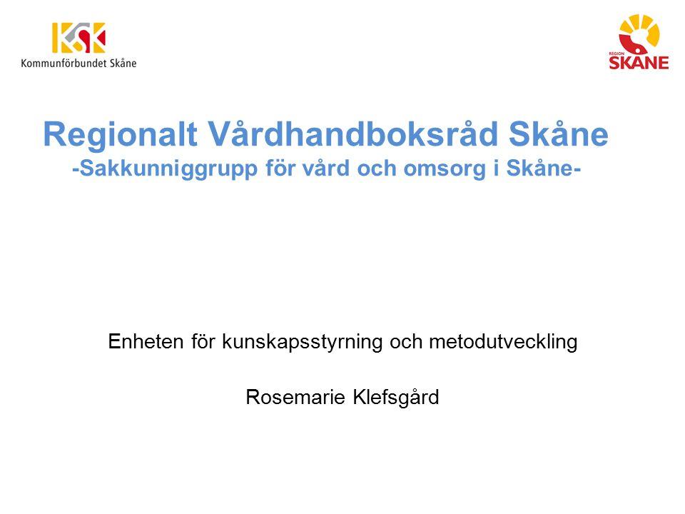 Enheten för kunskapsstyrning och metodutveckling Rosemarie Klefsgård