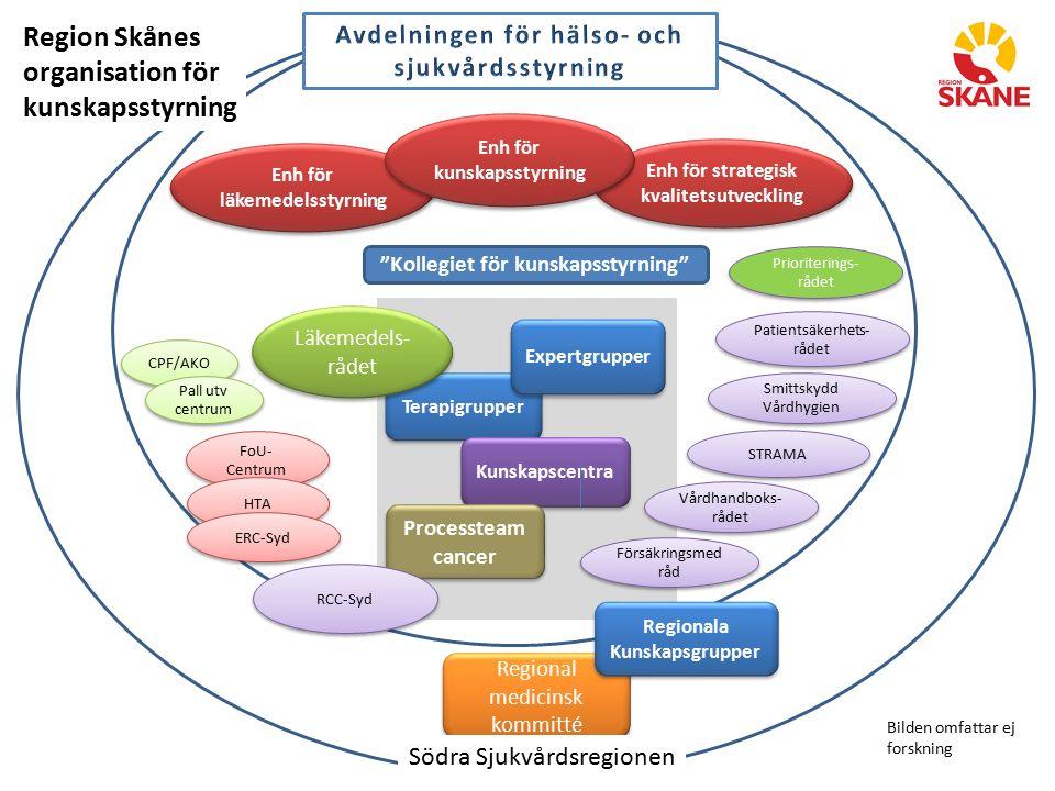 Region Skånes organisation för kunskapsstyrning