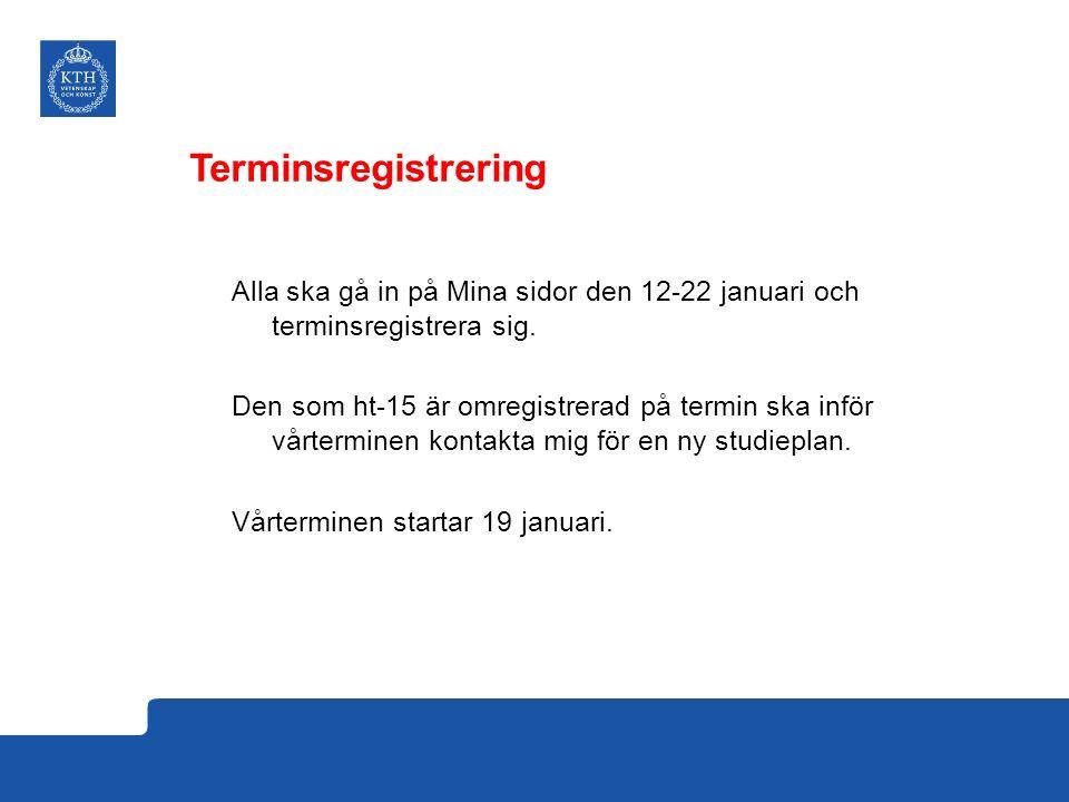 Terminsregistrering