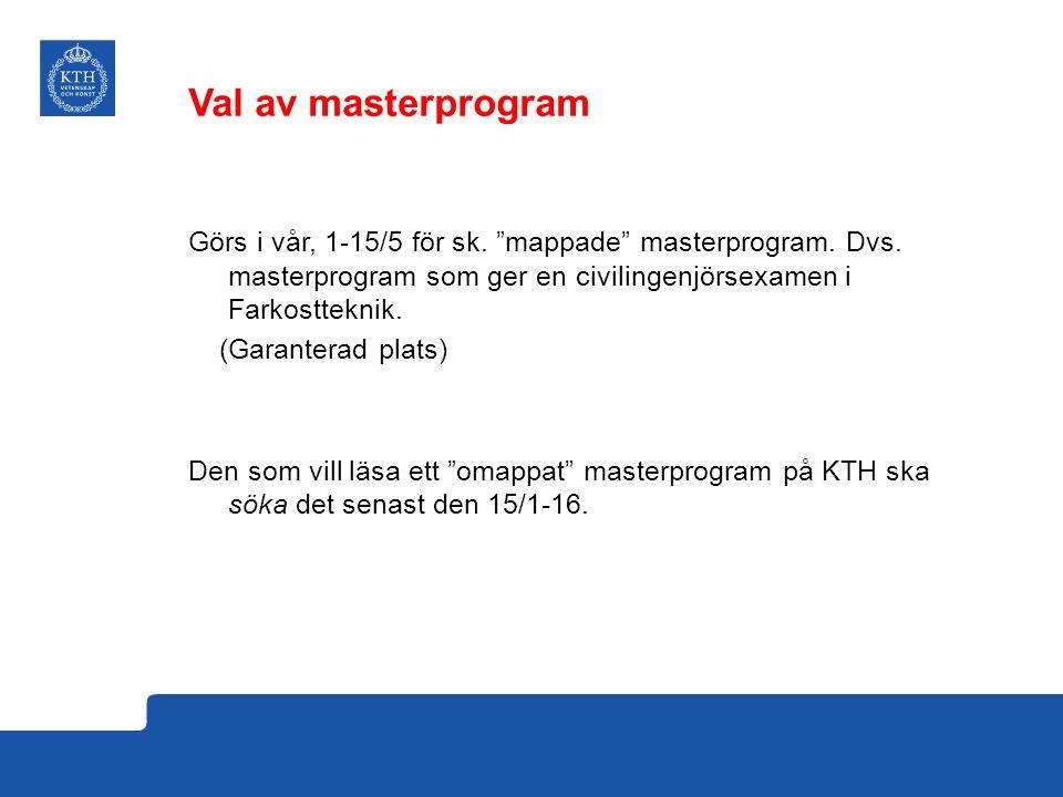 Val av masterprogram