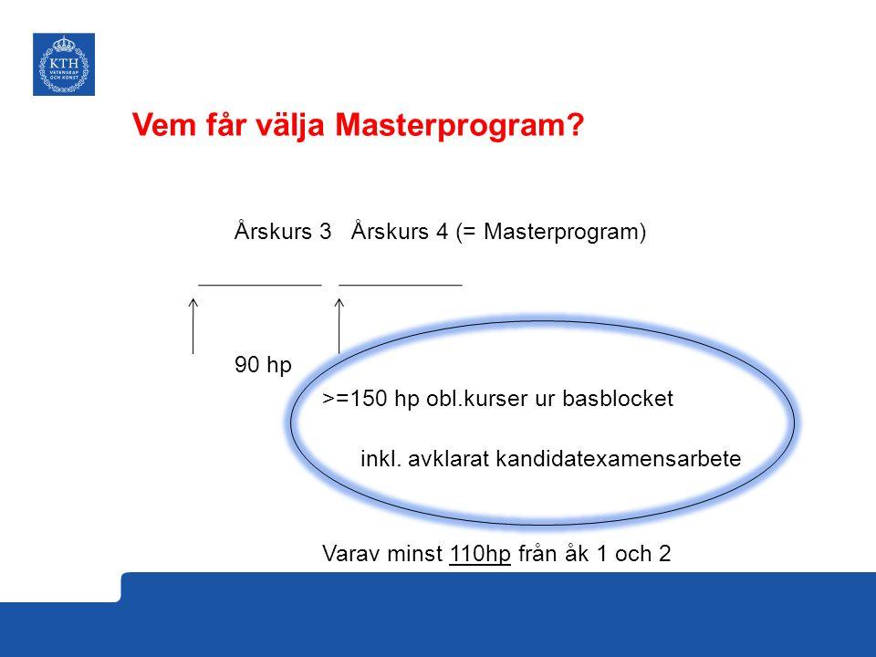 Vem får välja Masterprogram