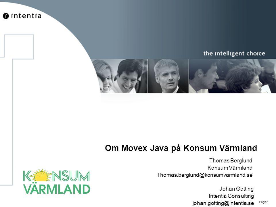 Om Movex Java på Konsum Värmland