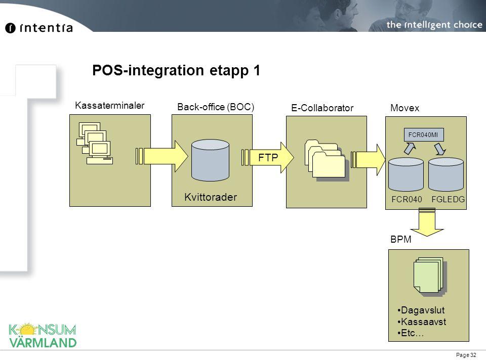 POS-integration etapp 1
