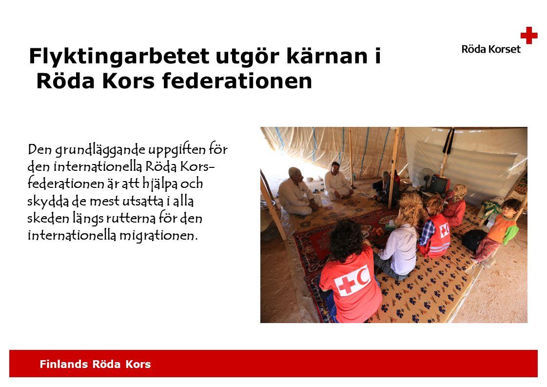 Flyktingarbetet utgör kärnan i Röda Kors federationen