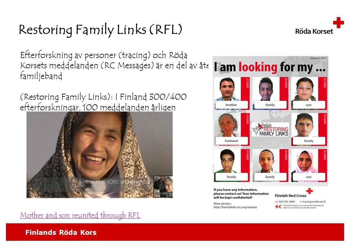 Restoring Family Links (RFL)
