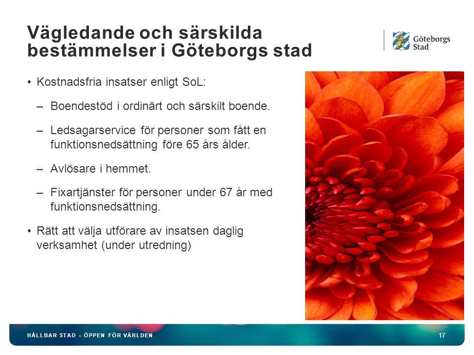 Vägledande och särskilda bestämmelser i Göteborgs stad