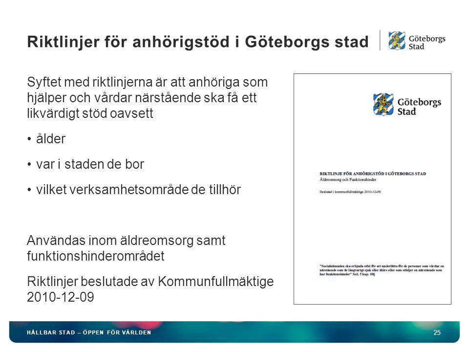 Riktlinjer för anhörigstöd i Göteborgs stad