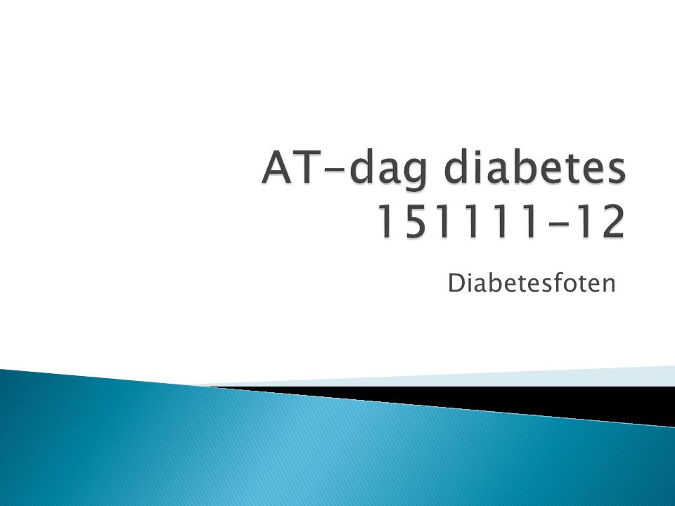 AT-dag diabetes 151111-12 Diabetesfoten