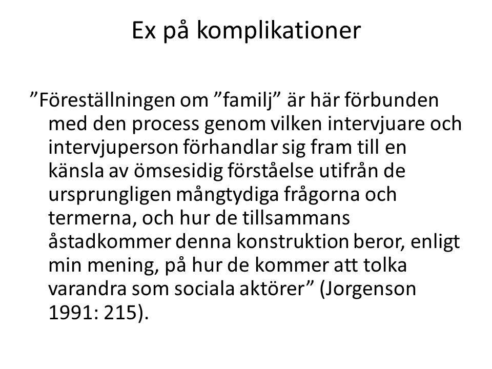 Ex på komplikationer