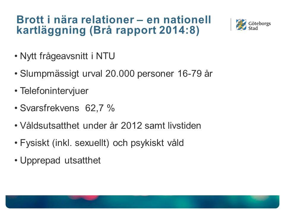 Brott i nära relationer – en nationell kartläggning (Brå rapport 2014:8)