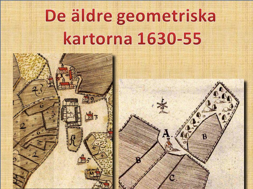 De äldre geometriska kartorna 1630-55