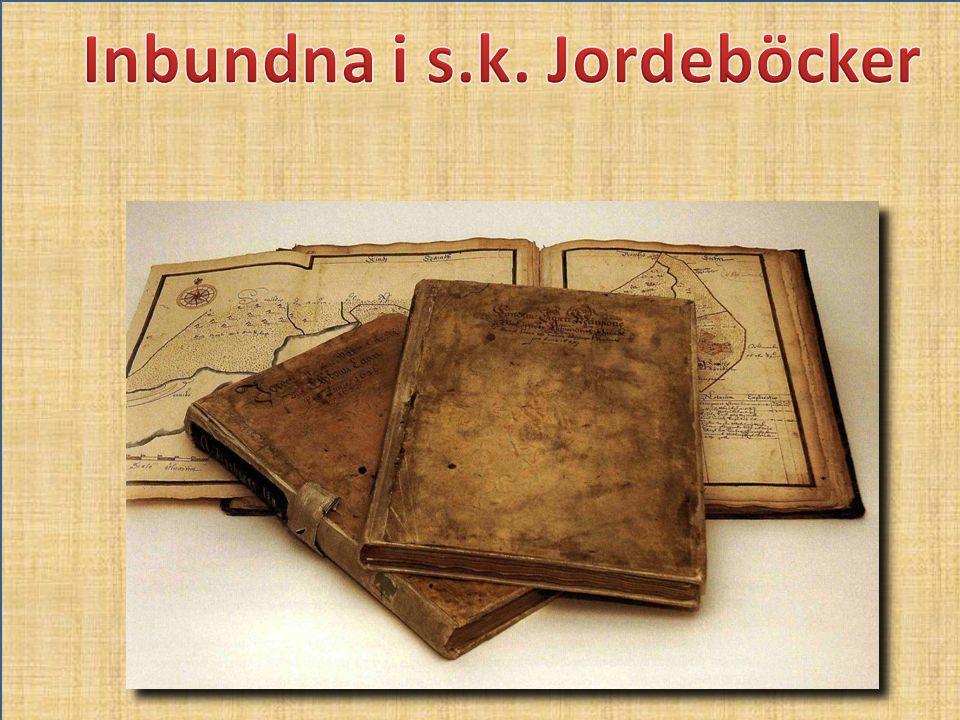 Inbundna i s.k. Jordeböcker