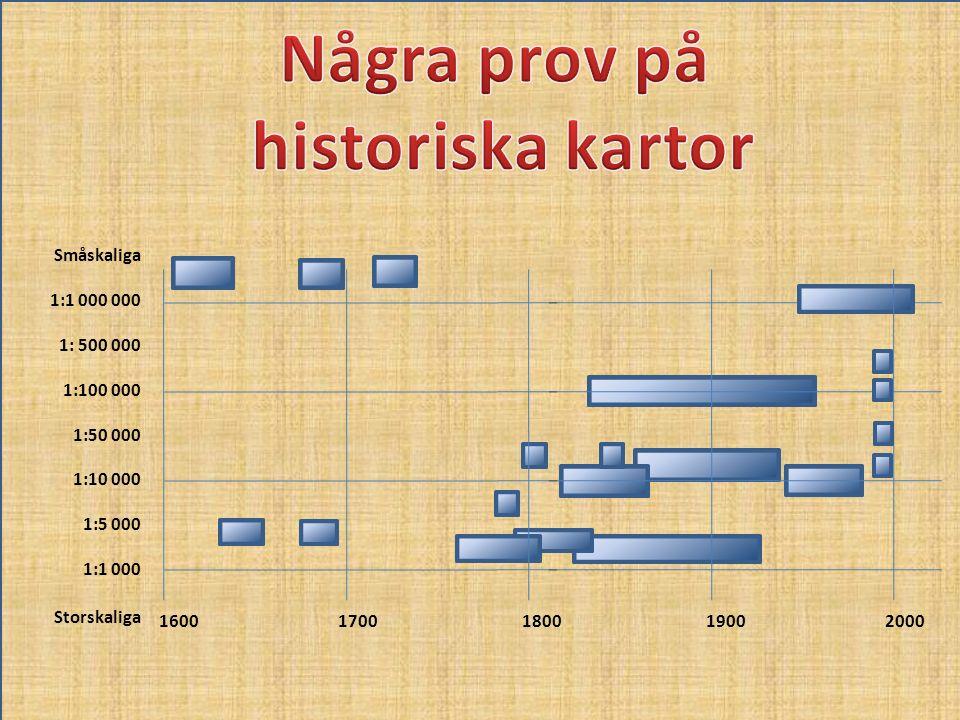 Några prov på historiska kartor