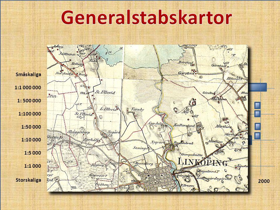 Generalstabskartor Småskaliga 1:1 000 000 1: 500 000 1:100 000