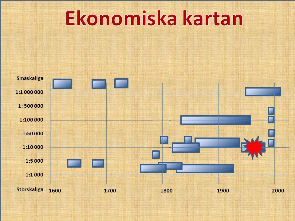 Ekonomiska kartan Småskaliga 1:1 000 000 1: 500 000 1:100 000 1:50 000