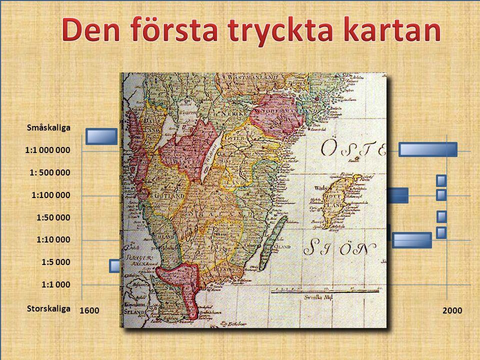 Den första tryckta kartan