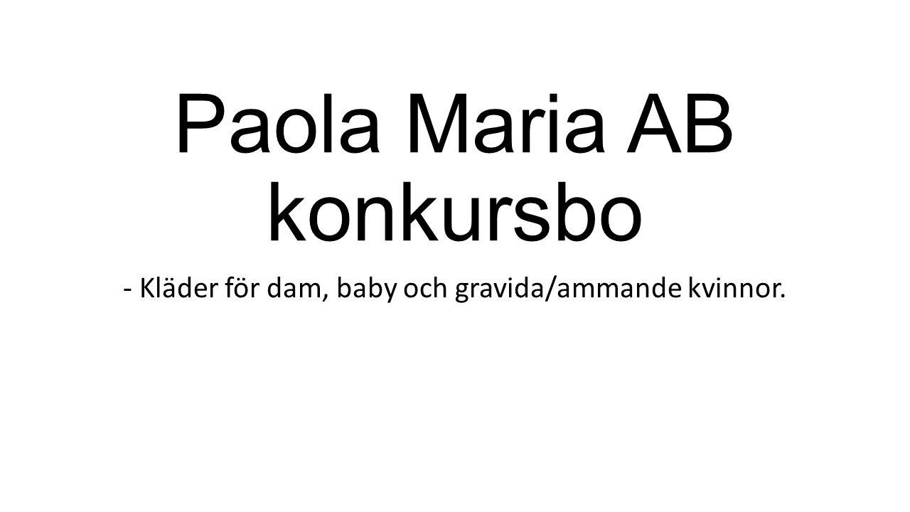 Paola Maria AB konkursbo