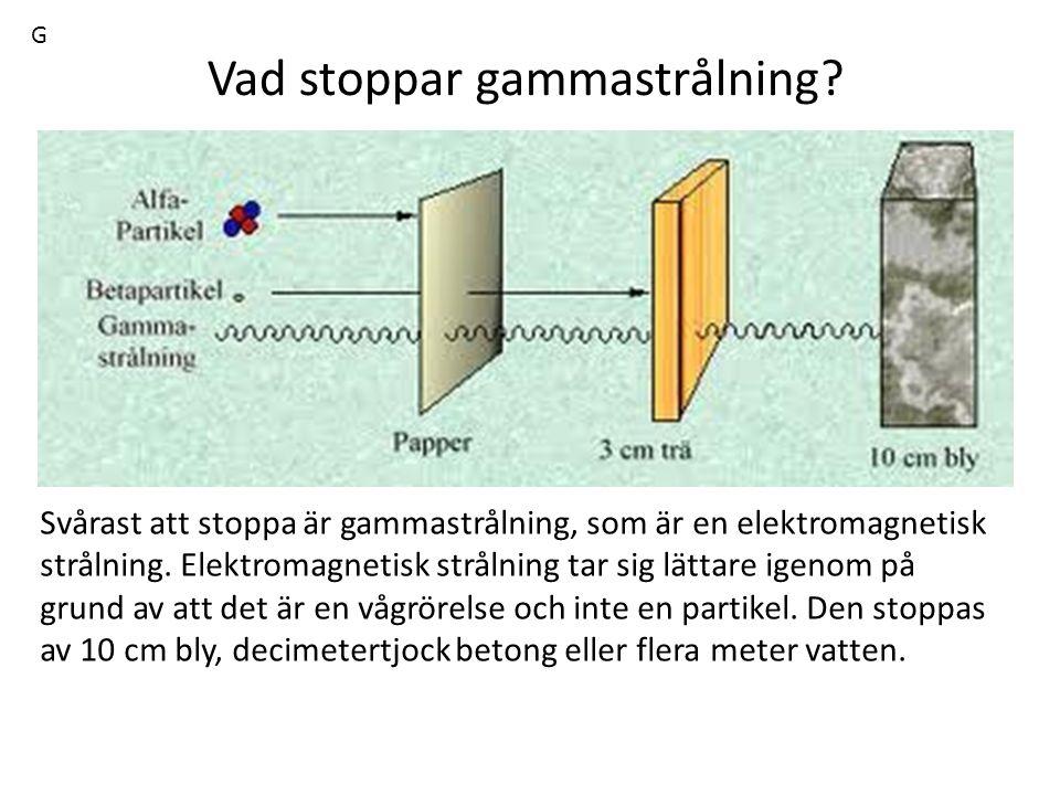 Vad stoppar gammastrålning