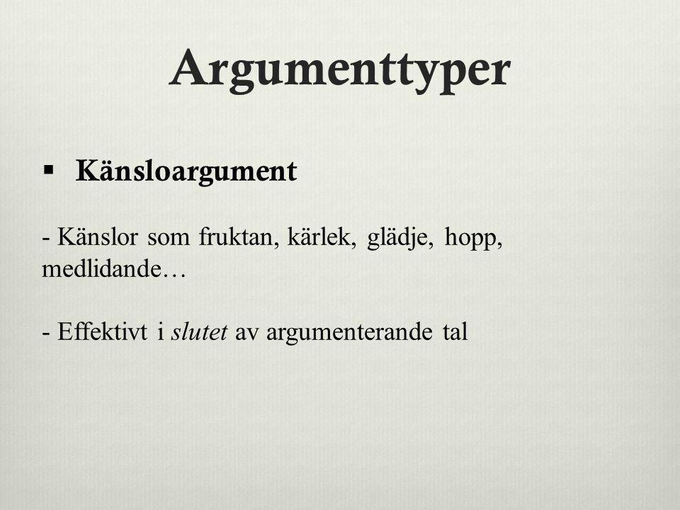 Argumenttyper Känsloargument