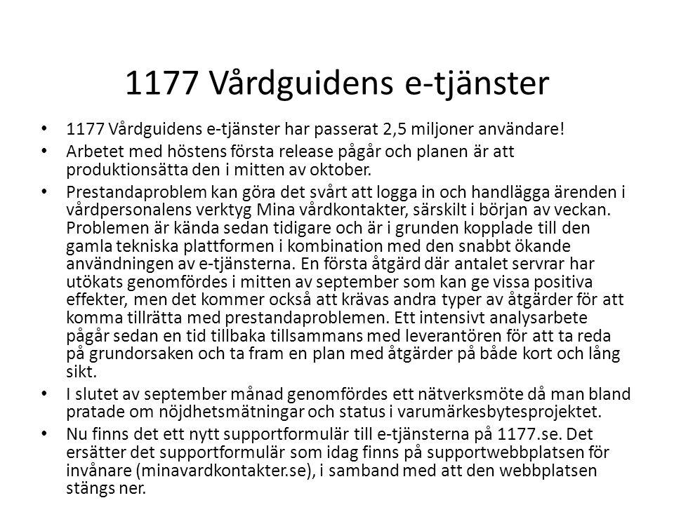 1177 Vårdguidens e-tjänster
