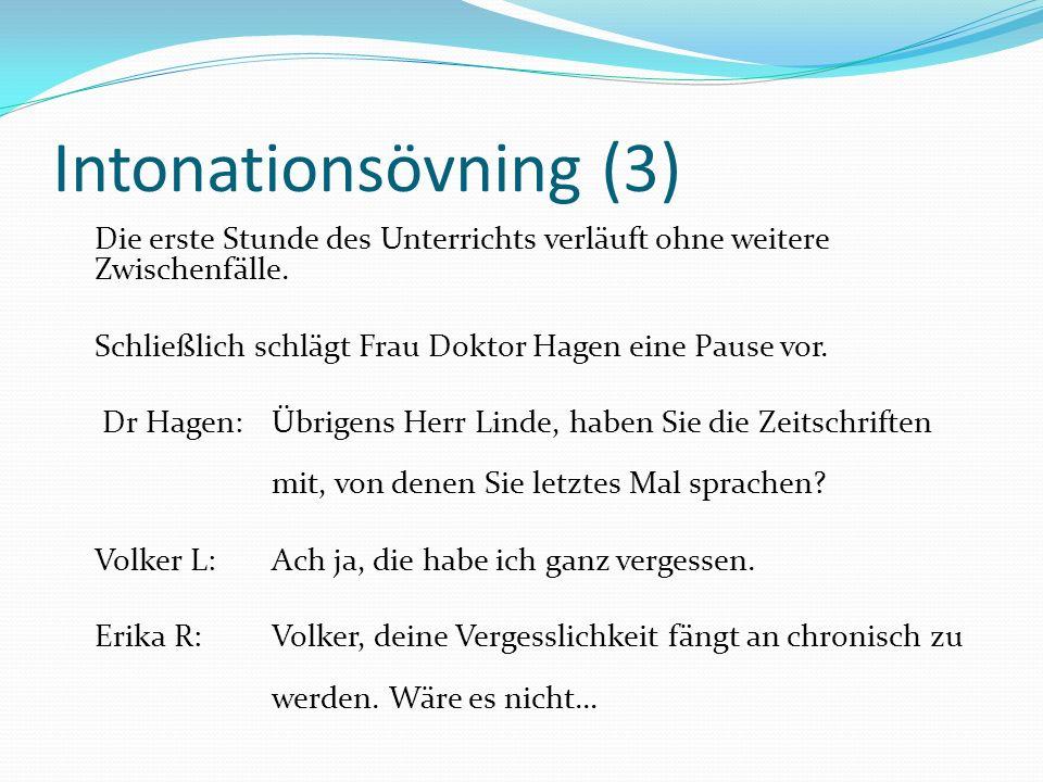 Intonationsövning (3)
