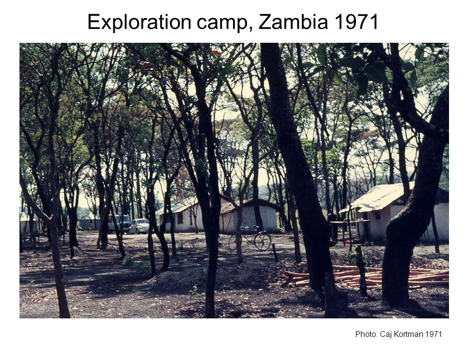 Exploration camp, Zambia 1971
