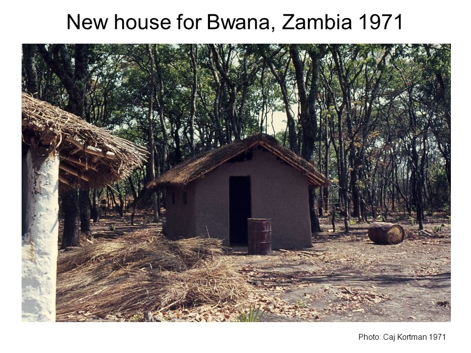 New house for Bwana, Zambia 1971