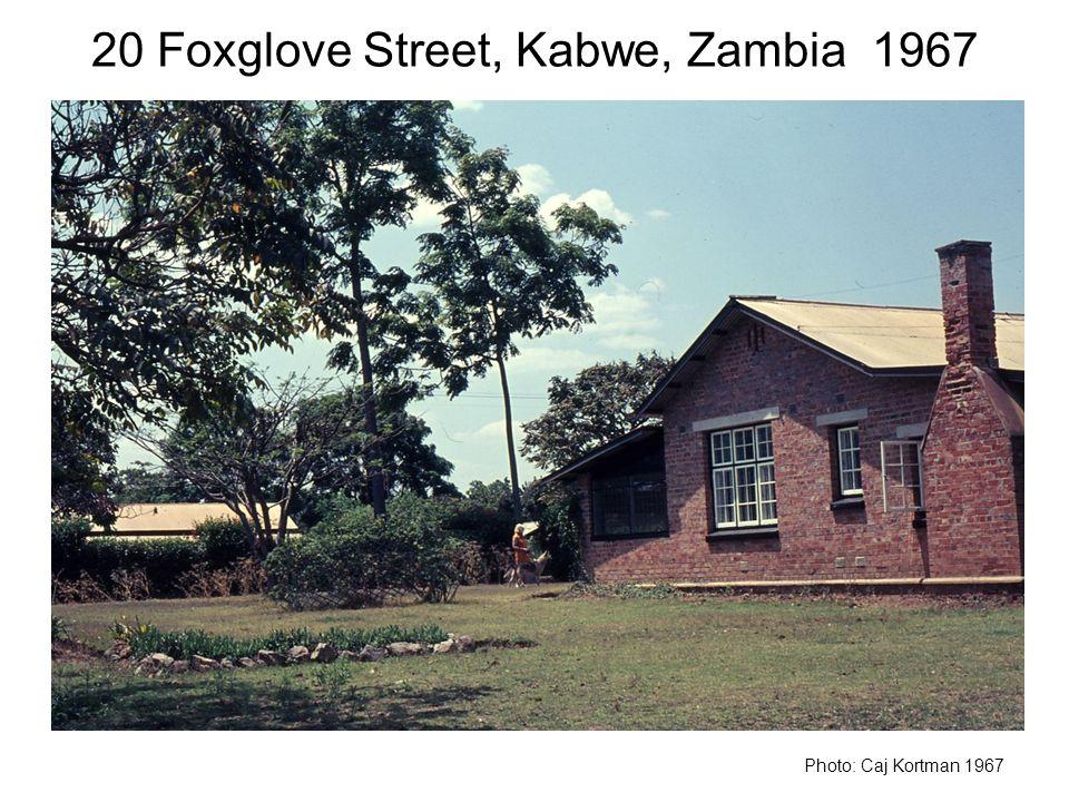 20 Foxglove Street, Kabwe, Zambia 1967