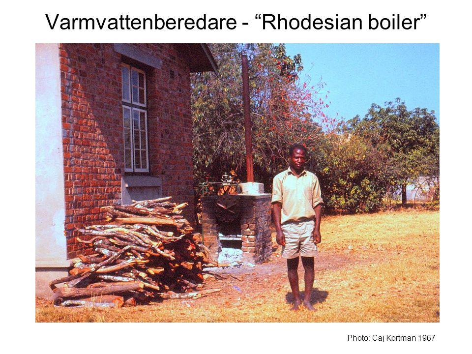 Varmvattenberedare - Rhodesian boiler