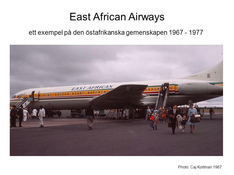 ett exempel på den östafrikanska gemenskapen 1967 - 1977