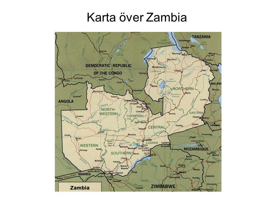 Karta över Zambia Zambias geografi och befolkning