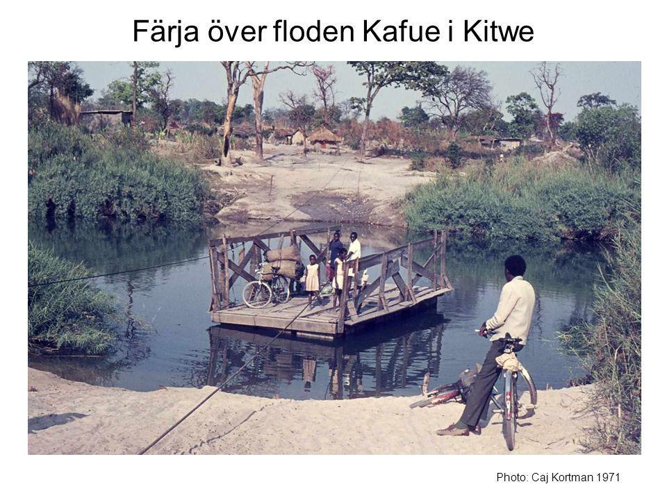 Färja över floden Kafue i Kitwe