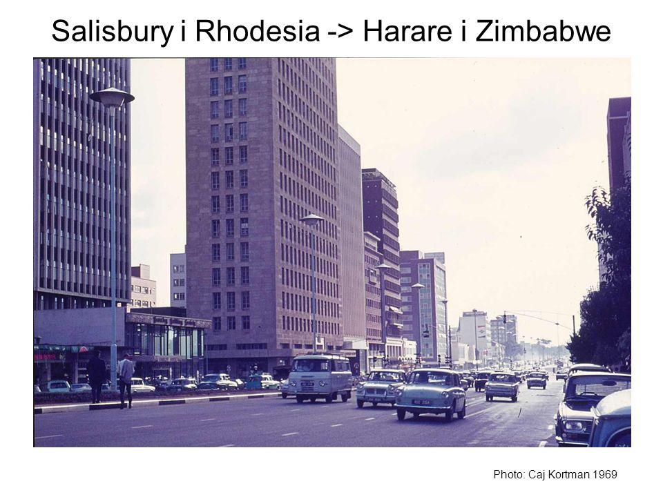 Salisbury i Rhodesia -> Harare i Zimbabwe