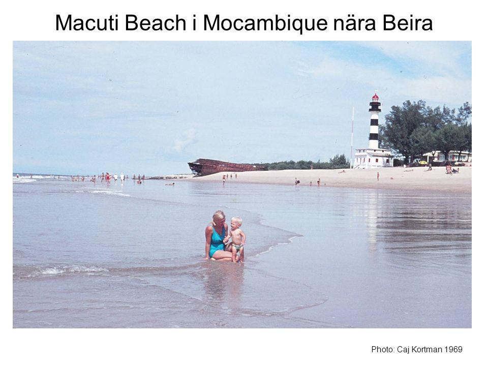 Macuti Beach i Mocambique nära Beira