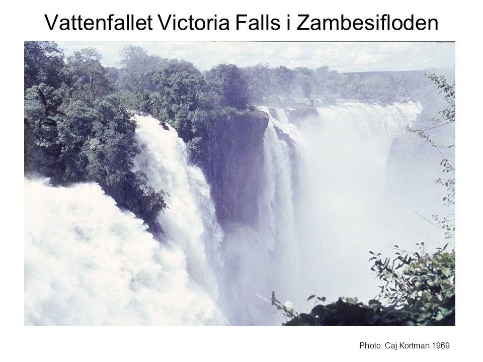 Vattenfallet Victoria Falls i Zambesifloden