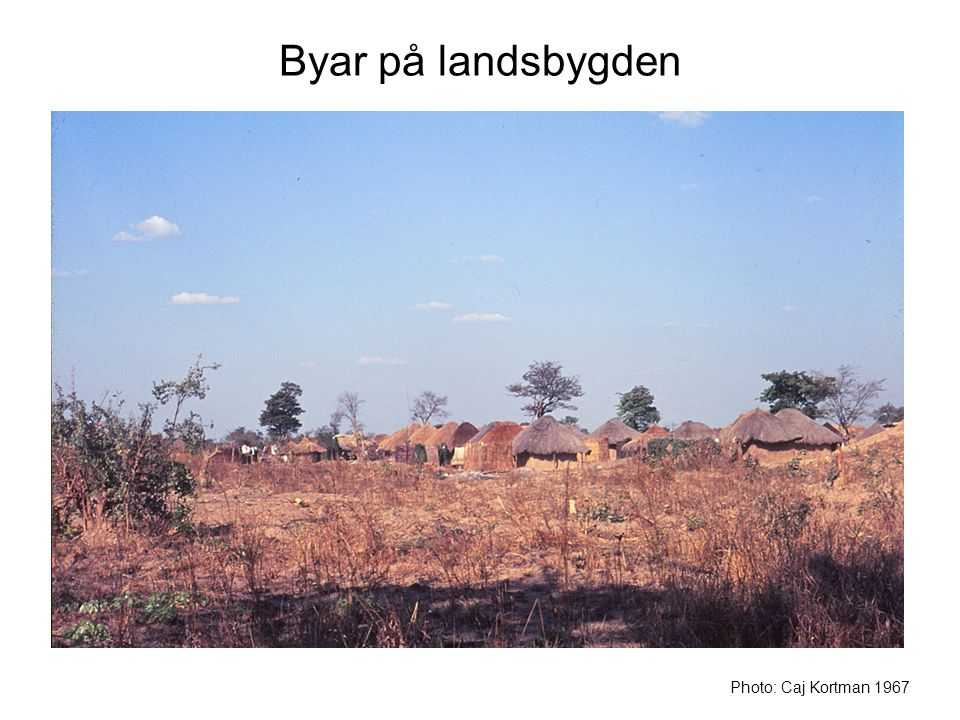 Byar på landsbygden På väg från huvudstaden Lusaka till Kabwe kunde vi bekanta oss med den afrikanska landsbygden.