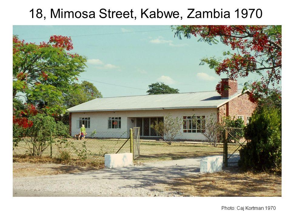 18, Mimosa Street, Kabwe, Zambia 1970