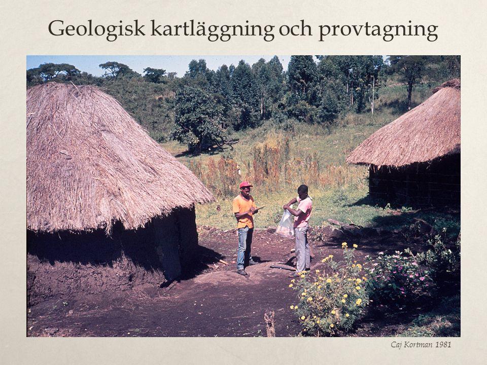 Geologisk kartläggning och provtagning