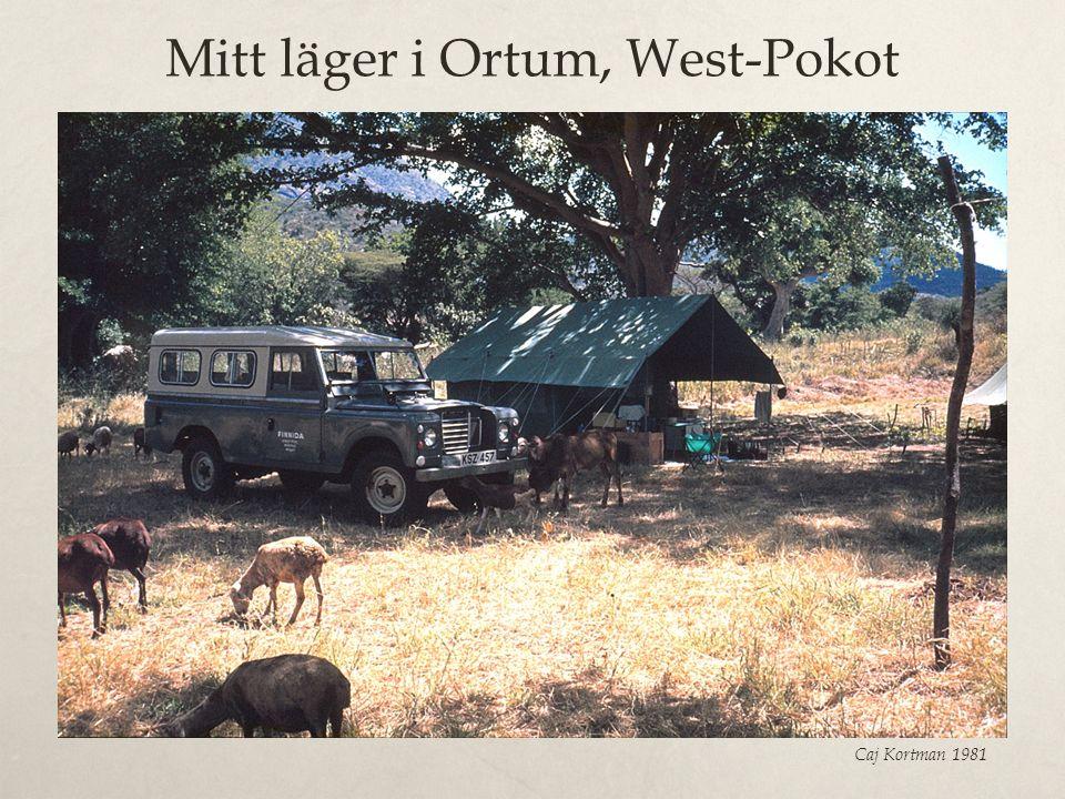 Mitt läger i Ortum, West-Pokot